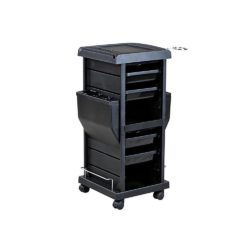 Lockable Rollabout Trolley with Appliance Holder
