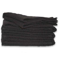 1 Dozen Towels 100% Cotton Black