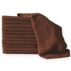 1 Dozen Towels 100% Cotton Brown