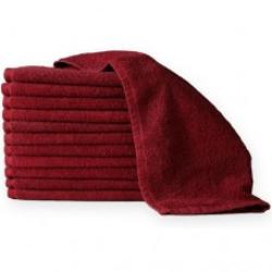 1 Dozen Towels 100% Cotton Red