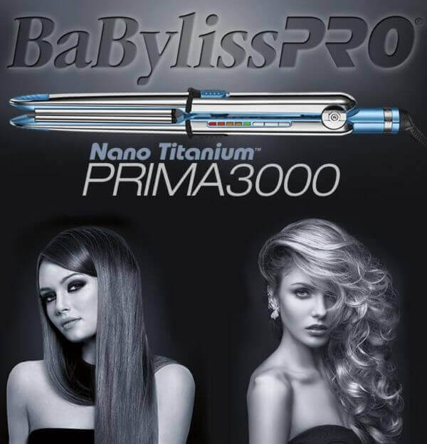 Babyliss® Prima3000 Nano Titanium Flat Iron