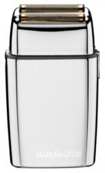 BaByliss PRO FOILFX02 Cordless Metal Double Foil Shaver Silver Dual Voltage